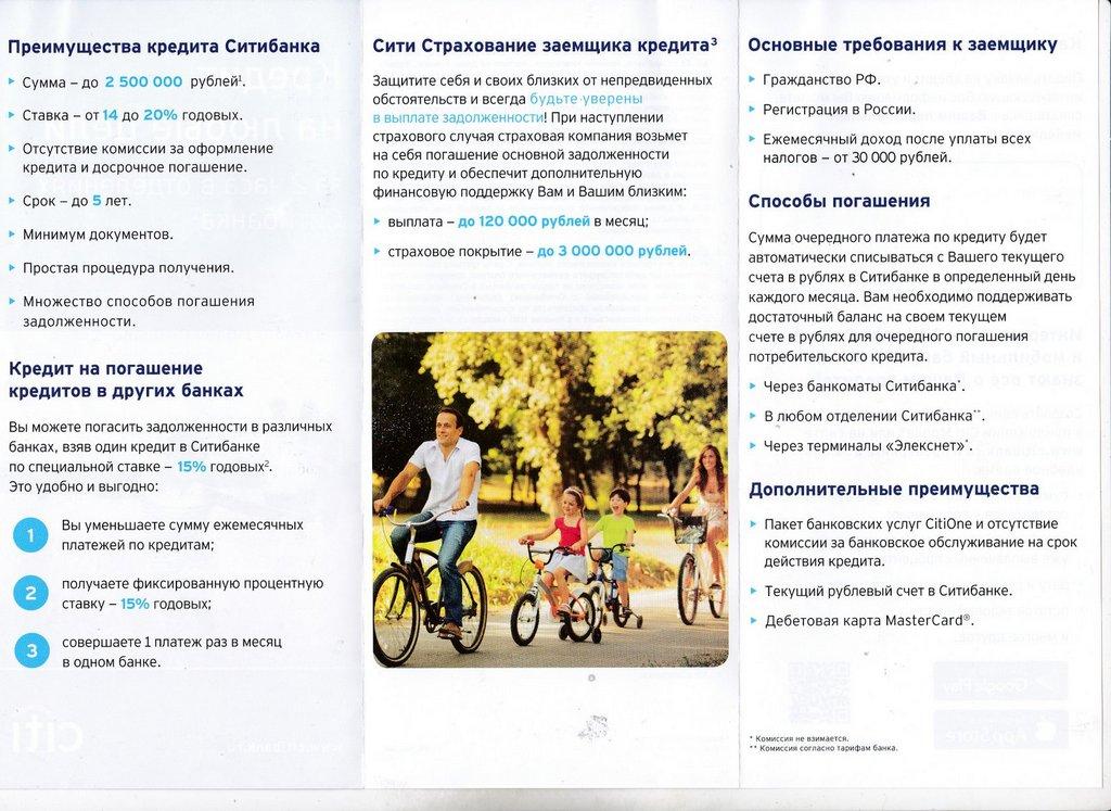 Рекламные буклеты Ситибанка, 2017 год