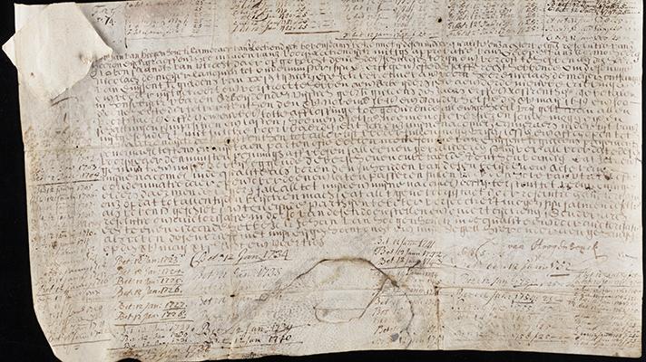 Облигация 1648 года. На козлиной коже