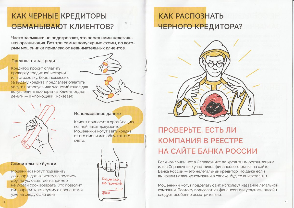 Брошюра Банка России про чёрных кредиторов