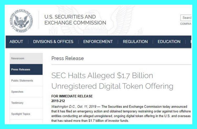 Решение SEC о токенах Telegram (перевод на русский язык)