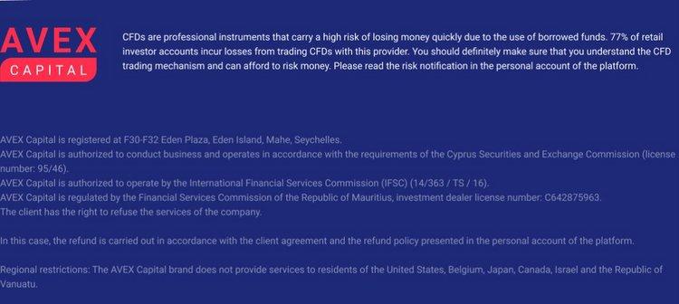 Avex Capital: обман и тлен