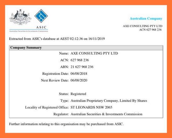 Axe&Co: лжеброкер якобы из Австралии