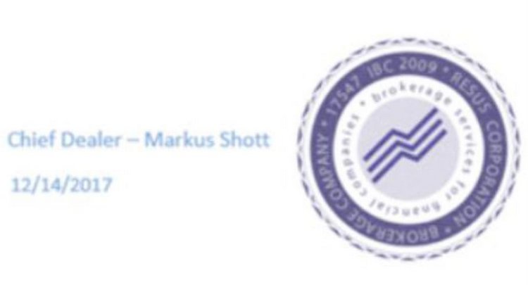 Resus Corporation — не брокер, а фикция