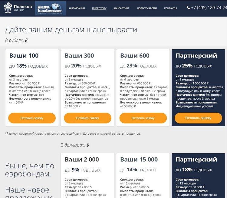 «Поляков Финанс»: не рекомендуем