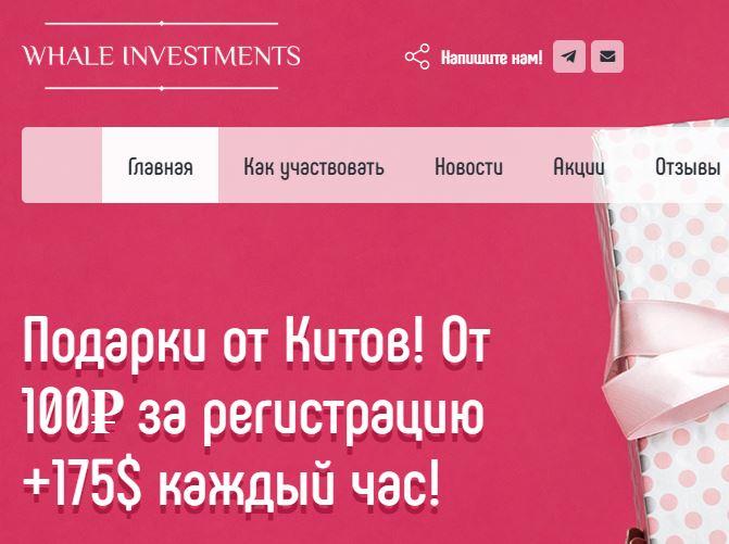 Whale Investments: осторожно, мошенники